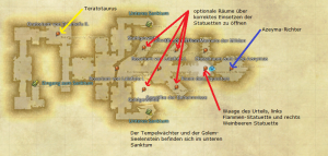 Final Fantasy 14 Versunkener Tempel von Quarn Karte