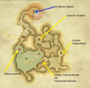Final Fantasy 14 Dungeon Brüllvolx Langrast Karte