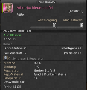 Final Fantasy 14 Loot Kupferglocken Mine