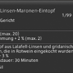 Final Fantasy 14 Linsen-Maronen Eintopf