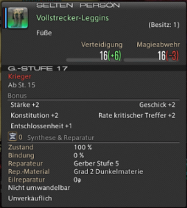 Final Fantasy 14 Loot Vollstrecker Leggins